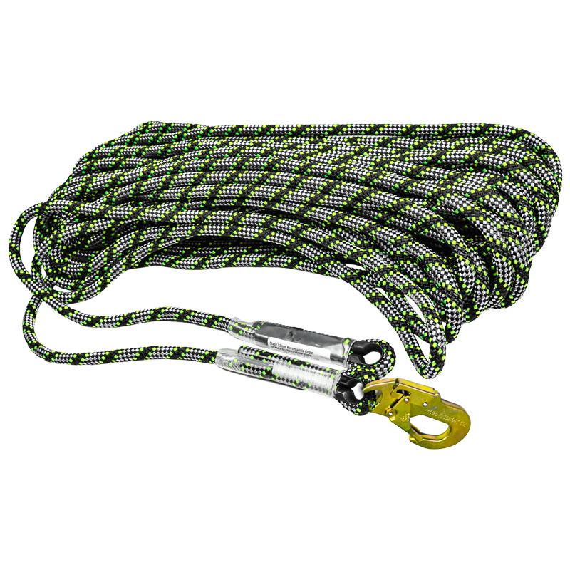 TACTIXS – 11MM TACTIX KERNMANTLE STATIC ROPE WITH EYELET & SNAPHOOK – 50M